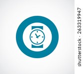 time icon bold blue circle... | Shutterstock . vector #263319947