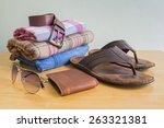 still life with casual man on... | Shutterstock . vector #263321381