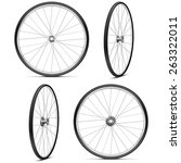 vector bicycle wheels | Shutterstock .eps vector #263322011