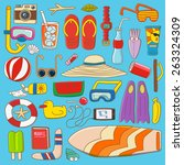 summer stuff collection item... | Shutterstock .eps vector #263324309
