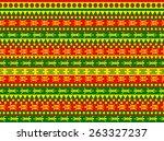 funky seamless geometric vector ... | Shutterstock .eps vector #263327237