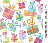 colorful vector gift boxes. to... | Shutterstock .eps vector #26332874