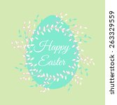 easter egg colorful... | Shutterstock .eps vector #263329559