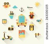 flat design vector illustration ... | Shutterstock .eps vector #263330105