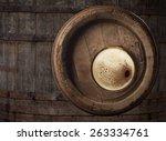 glass of beer top view | Shutterstock . vector #263334761