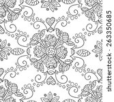 vector flower seamless pattern. ... | Shutterstock .eps vector #263350685
