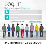 casual people account login... | Shutterstock . vector #263365004