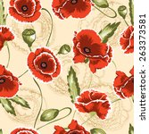 seamless floral pattern.... | Shutterstock .eps vector #263373581