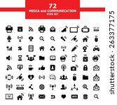 media and communication icon set | Shutterstock .eps vector #263377175