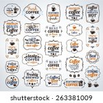 collection of colorful coffee... | Shutterstock .eps vector #263381009