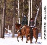 Man And Women  Horseback Ridin...