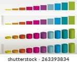 color vector statistics graphs | Shutterstock .eps vector #263393834