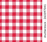 Red Gingham Tablecloth Seamles...
