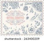 organic cosmetics frame.... | Shutterstock .eps vector #263400209
