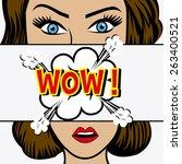 comic pop art colorful design ... | Shutterstock .eps vector #263400521