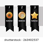 healthy food infographics...   Shutterstock .eps vector #263402537