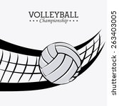 sport design over white... | Shutterstock .eps vector #263403005
