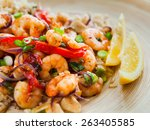 Fried King Prawns With Brown...