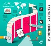 web deign template   timeline...   Shutterstock .eps vector #263407511