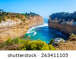 the twelve apostles  a famous... | Shutterstock . vector #263411105