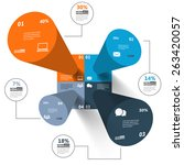 modern 3d infographics for e... | Shutterstock .eps vector #263420057