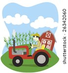 vector illustration of a farmer ... | Shutterstock .eps vector #26342060