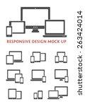 silhouette vector responsive... | Shutterstock .eps vector #263424014