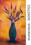 Постер, плакат: Flowers in a vase