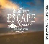 summer lettering design   Shutterstock .eps vector #263427809