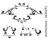 vector ornaments | Shutterstock .eps vector #2634291