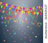 vector celebrate confetti | Shutterstock .eps vector #263434127