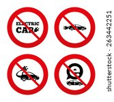 no  ban or stop signs. electric ... | Shutterstock .eps vector #263442251