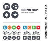 social media icons. chat speech ... | Shutterstock .eps vector #263446115