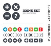 plus and minus icons. delete... | Shutterstock .eps vector #263448449