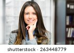 young beautiful businesswoman | Shutterstock . vector #263448779