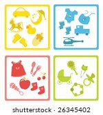 collection of baby element... | Shutterstock . vector #26345402