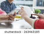 business adviser analyzing...   Shutterstock . vector #263463185
