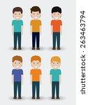 kids design over white... | Shutterstock .eps vector #263463794