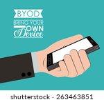 byod design over blue...   Shutterstock .eps vector #263463851