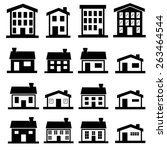 vector house icons.vector | Shutterstock .eps vector #263464544