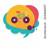 bicycle flat icon with long... | Shutterstock .eps vector #263466047
