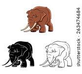elephants mascot set collection ... | Shutterstock .eps vector #263474684