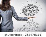 rear view of businesswoman... | Shutterstock . vector #263478191