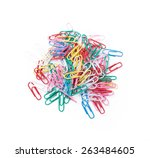 Many Paper Clips Laid Out...