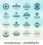summer holidays design elements ... | Shutterstock .eps vector #263485634