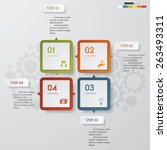 4 steps chart template graphic... | Shutterstock .eps vector #263493311