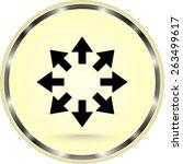 arrows sign icon  vector... | Shutterstock .eps vector #263499617