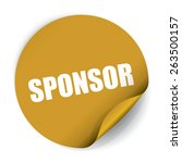 sponsor sticker and tag   gold | Shutterstock . vector #263500157