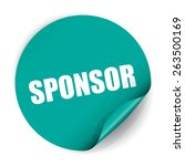 sponsor sticker and tag   blue | Shutterstock . vector #263500169