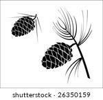 Vector Illustration Of Pinecon...
